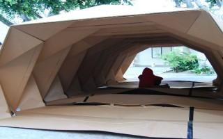 """""""Cardborigami, uma casa feita de cartão com formato em origami para ajudar os sem-teto.""""  Design funcional para ajudar os sem-teto Cardborigami2 320x200"""
