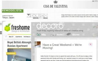 """""""Blogs de decoração de interiores que são top no Brasil e no mundo.""""  DECORAÇÃO: 10 blogs de decoração de interiores que valem a pena blogs 320x200"""