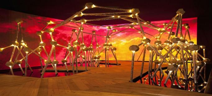 """""""Estrutura Manhue Groove, Miami Design 2013""""  Guilherme Torres colabora com Swarovski para Design Miami 2013 EstruturaMangueGroove 682x308"""