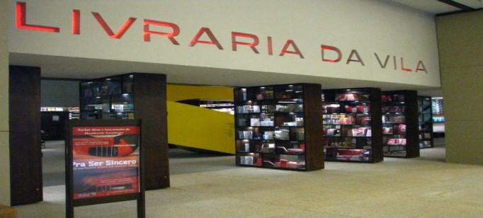 """""""Detalhe da entrada da Livraria da Vila""""  Arquitetura: a livraria de sonho por Isay Weinfeld livrariadavila 682x308"""