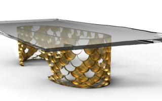 """Mesa de Jantar Koi""  Design: 5 mesas inspiradas na natureza koi 320x200"