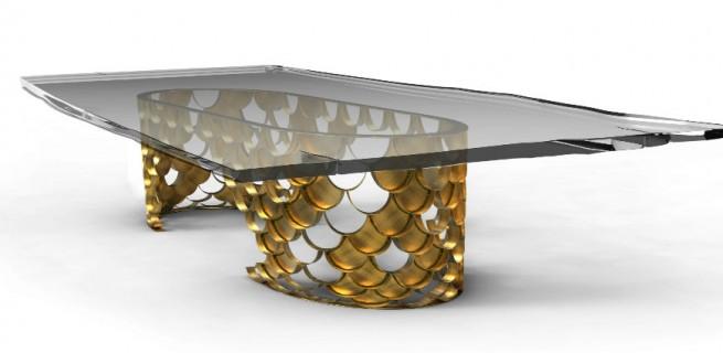 """Mesa de Jantar Koi""  Design: 5 mesas inspiradas na natureza koi 655x320"