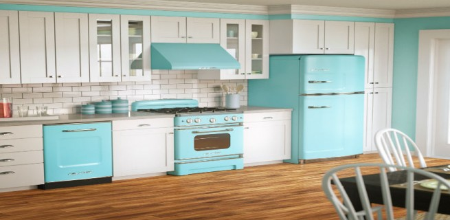 """""""Cozinha vintage""""  Decoração pra Casa: Top 10 Cozinhas de sonho cozinha vintage 655x320"""