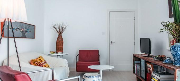 """""""Apartamento de arquiteto""""  O apartamento artístico do arquiteto Maurício Pinto  02 reforma da tao certo que arquiteto vira morador de ape em salvador 682x308"""