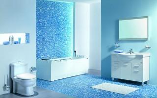 """""""Banheiro em azul""""  Decoração: Os mais bonitos banheiros em azul Pastilhas de Vidro Banheiro 320x200"""