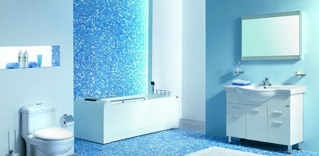 """""""Banheiro em azul"""""""