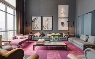 """""""Sala de estar em tons de cinza""""  Decoração: Salas de estar em tons cinza sala de estar Roberto Migotto mulher"""