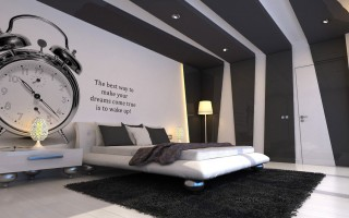 50 tons de cinza: decor do quarto inspirada no filme  50 tons de cinza: decor do quarto inspirada no filme bedroom artdeco wall paint brown and white paint combination printed wall cover watch and inspiring words simply cool and unique wall designs for bedrooms 320x200